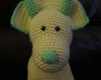 Handmade, Crocheted Triceratops