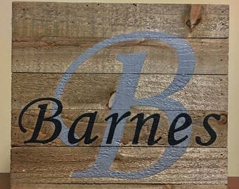 Customized wood pallet canvas