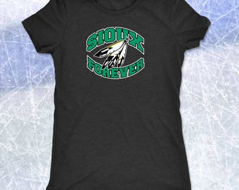 SIOUX FOREVER Crescent Logo Womens TriBlend Super Soft Tee