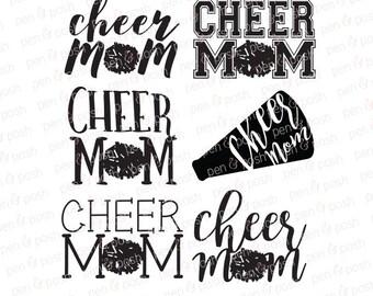 Cheer Mom SVG - Cheerleader Mom - Cheer Mom DXF - Cheerleader SVG - Cheer Mom - Cheer  Cheerleading  Sports Mom Svg