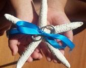 Natural Pencil Starfish Ring Pillow, Beach Wedding Decor, Starfish Ring Bearer Pillow Alternatives, Beach or Coastal Wedding Proposal