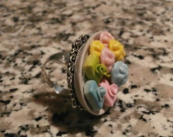 Miniature cake tray rings