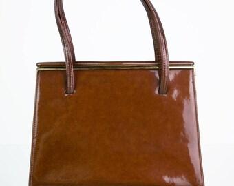 Elegant patent leather vintage purse