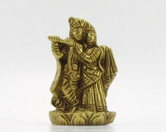 RadhaKrishna brass statue,Radha Krishna Hindu God,small brass sculpture,Hinduism,Hindu altar ,temple,