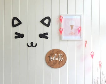 Kitty wall pal / Cat wall decor / kids decor / kids room