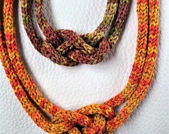 Bamboo silk necklaces