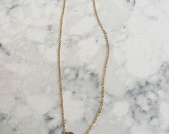 Dainty Circle Necklace    Simple Circle Necklace    Gold Circle Necklace    Small Simple Necklace    Layering Necklace