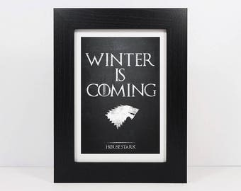 Framed Personalised Game Of Thrones Inspired House Sigil Print | House Stark | House Baratheon | House Lannister | House Targaryen Banner