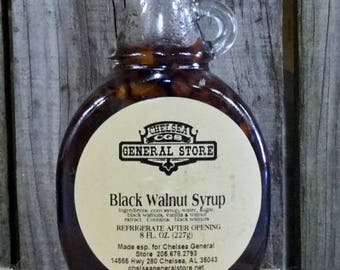 Black Walnut Syrup - 8 oz