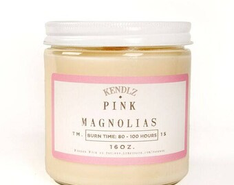 Pink Magnolias, Soy Candle, Gifts under 30, Phthalate Free, Gifts for her