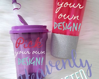 Pick Your Own Design Glitter Dipped 36 Oz. BPA Free Water Tumbler with Straw // Custom Glitter Tumbler // Personalized Glitter Tumbler