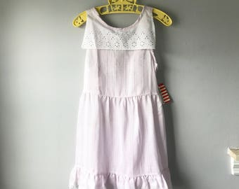 Sweet Vintage Light Lavender Tank Dress New Old Stock with Tags - Size 6x