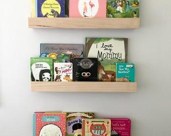 Picture Ledge Shelf - Rustic Ledge Shelf - Wood Shelf - Floating Shelf - Book Ledge - Picture Ledge - Floating Shelf - Book Shelf