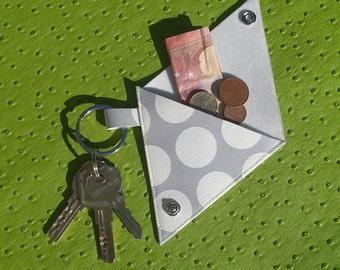 Porte-monnaie et porte-clés en simili cuir fantaisie