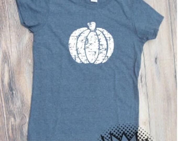 Grungy Pumpkin T-shirt fall pumpkin spice Adult Shirt season halloween Boo Costume Mom Mother