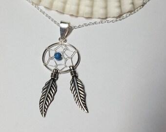 Dreamcatcher Pendant, Dreamcatcher Necklace, Dreamcatcher Jewelry, Festival Necklace, Gypsy Necklace, Dreamcatcher, Silver Necklace, Boho