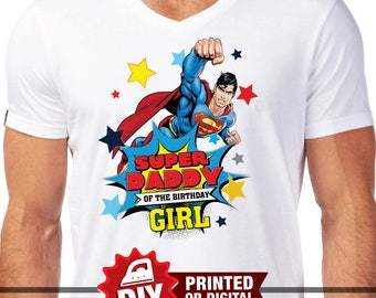 Printed or Digital - Superman Iron On Transfer, Superman shirt, instant download, DIY, Superman Party, Superheroes iron on, Wonder Woman