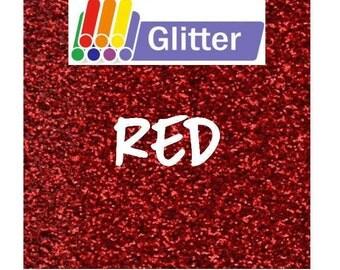Siser Glitter Heat Transfer Vinyl - Iron On - HTV - Red