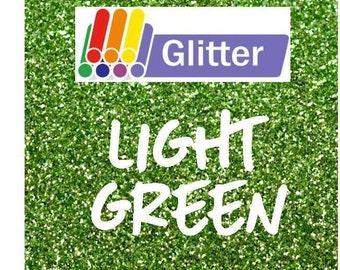 Siser Glitter Heat Transfer Vinyl - Iron On - HTV - Light Green