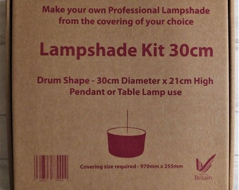 Lampshade kit, Make your own lampshade kit, lampshade kits, 30cm drum