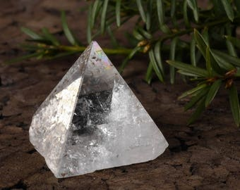 APOPHYLLITE Pyramid - S, M, L and XL - Clear Crystal Pyramid, Apophyllite Crystal Point, Healing Pyramid Crystal, Apophyllite Cluster E0351