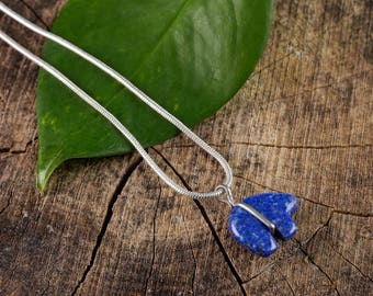 LAPIS LAZULI Zuni Bear Pendant - Lapis Lazuli Pendant, Lapis Lazuli Necklace, Zuni Jewelry, Lapis Lazuli Jewelry, Zuni Bear Necklace E0770