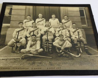 Old photography of college hockey team - Ca. 1930