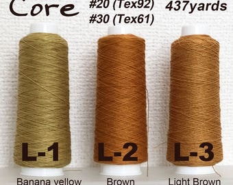 Poly Core wrapped Cotton Thread. 437yds(400M) spool.