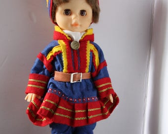 Vintage Iceland Collectible Doll, Icelandic Ethnic doll, Iceland doll, International souvenir doll, Souvenir doll