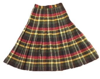 1950's Tartan Full Swing Midi Skirt