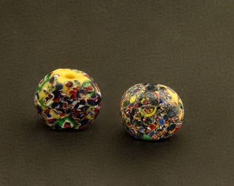 V66- 2 End of the Day Venetian tabular beads