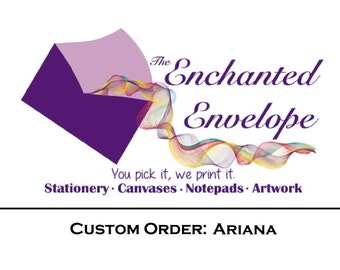 CUSTOM ORDER: Ariana, Thank You Cards, Custom Thank You Cards, Printed Thank You Cards, Custom Design, Custom Notecards