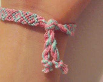 Pink & blue friendship bracelet
