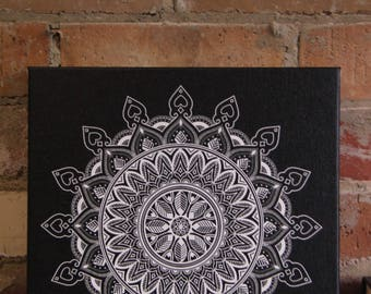 Wall Art - Black and White Mandala - Digital Download Only