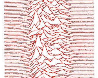 """Joy Division Japanese Unknown Pleasures Poster Ultra-Hi Quality Print 24"""" x 36"""""""