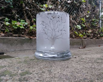 Frosted Tree Candle Holder