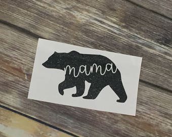 Mama Bear Vinyl Decal | Momma Bear Decal | Mom Bear Vinyl Decal