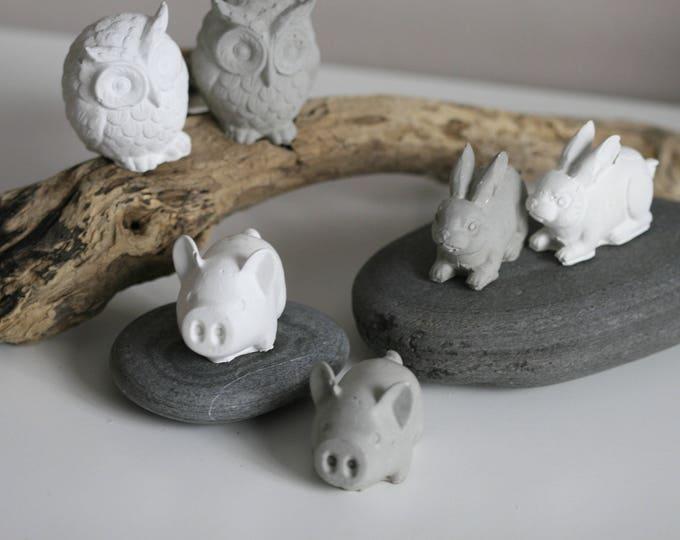 Concrete Owl Figurine | Concrete Home Accessories | Concrete Homeware | Fundraising