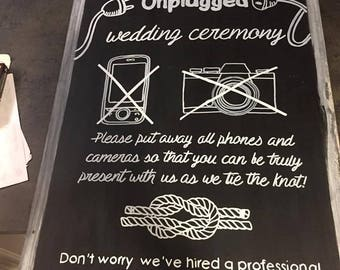 Rustic Wedding Signs   Unplugged Wedding  