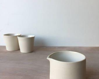 ceramic pourer, milk pourer, ceramic carafe, ceramic jug, gift for home warming, modern pourer