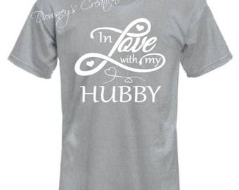 In LOVE with my Hubby Short sleeve Unisex T-SHIRT