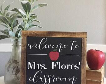 Teacher Classroom Sign   Personalized Teacher Sign