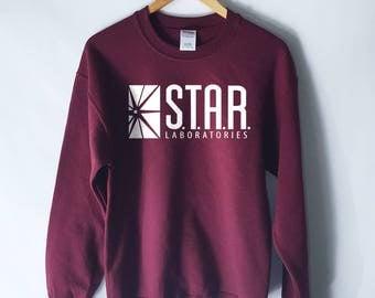 Star Laboratories Sweatshirt-  The Flash Sweatshirt - S.T.A.R. Laboratories Jumper