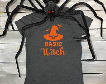 Basic Witch, Funny Halloween Shirt, Halloween Shirt, Halloween, Halloween Party Shirt