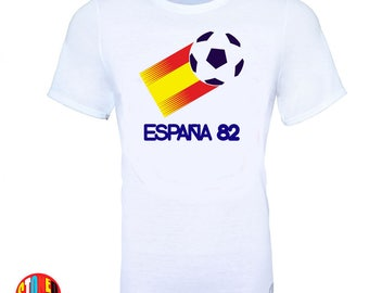 World Cup Espana Spain 1982 Football Soccer Retro Vintage T-Shirt - Kids And Adult Sizes