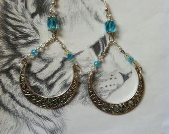 """Blue Moon"" Moon earrings"
