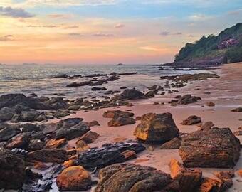 Rocky Beach Print, Beach Photos, Beach Photography, Beach House Decor, Beach Wall Art, Seascape, Beach Picture, Wall photos