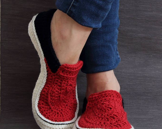 Crochet PATTERN  Vans style slippers