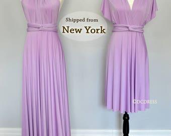 Lilac Bridesmaid dress, convertible dresses, beach dress, infinity dress, party dress, multi way dress, prom dress, evening dress, cocktail