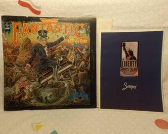 Elton John Records, Elton John Vinyl 70s, 1975, Captain  Album, Elton John with Insert Record, Rocketman, 70s Vinyl, Pop Rock Music